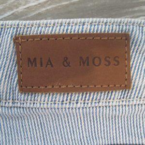 Mia & Moss fine pinstripe slim boyfriend cut jeans